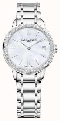 Baume & Mercier | Womens Classima | Diamond Bezel | Stainless Steel Bracelet BM0A10478
