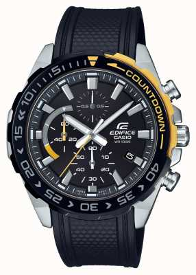 Casio | Edifice Classic | Black Rubber Strap | Day Date Display | EFR-566PB-1AVUEF