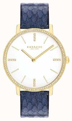 Coach | Womens | Audrey | Metallic Navy Leather | White Dial | 14503351