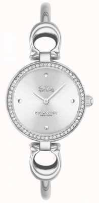 Coach   Womens   Park   Steel Bangle Bracelet   White Dial   14503448