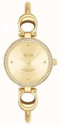 Coach   Womens   Park   Gold PVD Bangle   Gold Dial   14503446