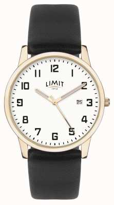 Limit | Mens Black Leather | Silver Dial | Gold Case | 5742.01