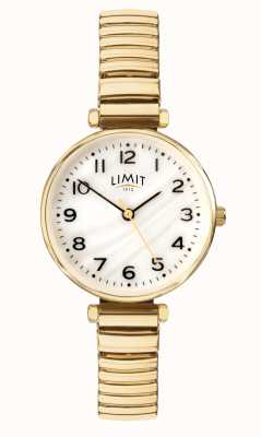 Limit | Womens Gold Plated Bracelet | Mother Of Pearl Dial | 60063.01