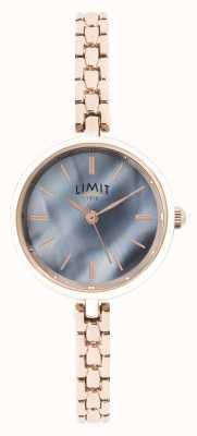 Limit   Womens Rose Gold Bracelet   Blue Dial   60064.01