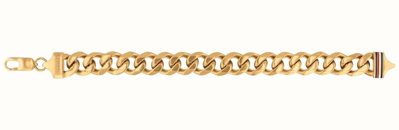 Tommy Hilfiger Mens Gold Plated Chain Bracelet 2790088