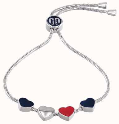 Tommy Hilfiger Womens Stainless Steel Heart Charm Bracelet 2780120