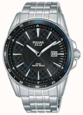 Pulsar | Accelerator Sports | Stainless Steel Bracelet | Black Dial PX3203X1