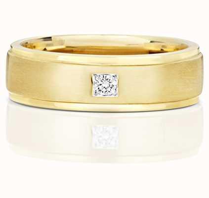 Treasure House 9k Yellow Gold Single Diamond Set Band RD703