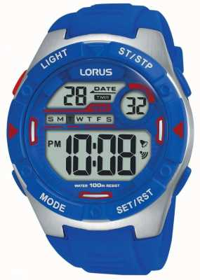 Lorus | Mens Sports Digital | Blue Rubber Strap | R2301NX9
