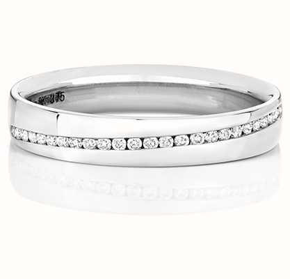 Treasure House 9k White Gold Diamond Set Channel Ring RD727W