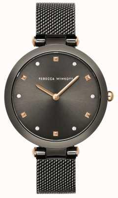 Rebecca Minkoff Womens Nina | Grey Mesh Bracelet | Grey Dial | 2200302