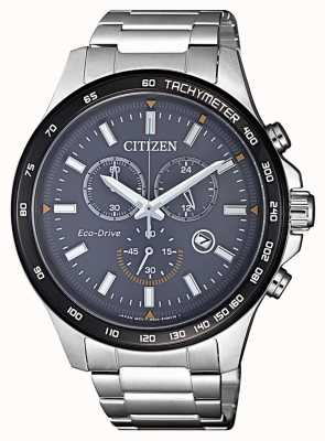 Citizen | Mens Eco-Drive Chronograph | Stainless Steel Bracelet | AT2424-82H