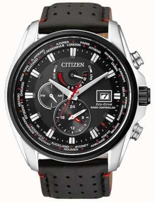Citizen | Mens Eco-Drive World Time A.T | Black Strap | Black Dial | AT9030-04E