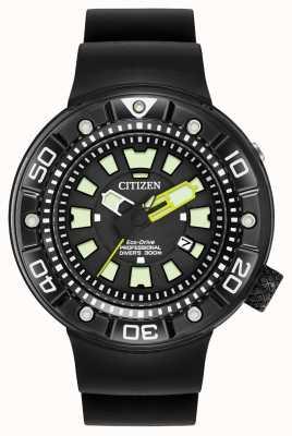 Citizen | Mens Eco-Drive Promaster Diver | Black Rubber Strap | BN0175-01E