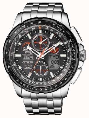Citizen | Mens Eco-Drive Skyhawk A.T | Titanium Bracelet| Black Dial JY8069-88E