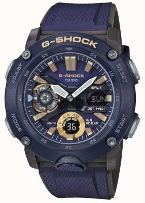 Casio | G-Shock Carbon Core World Time | Blue Rubber Strap | GA-2000-2AER