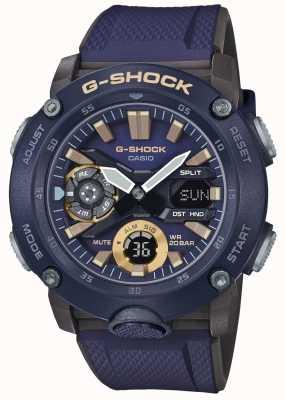 Casio | G-Shock Carbon Core World Time | Blue Rubber Strap | GA-2000-2AER