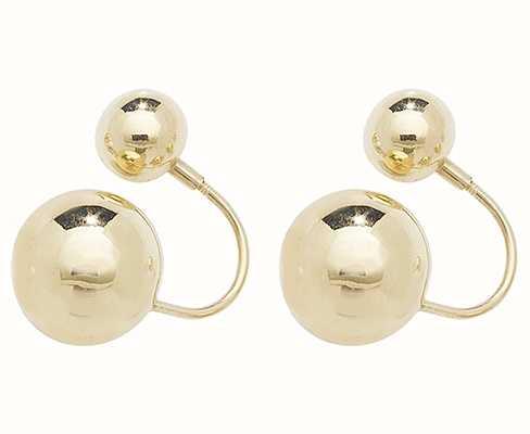 Treasure House 9k Yellow Gold Double Ball Earrings ES546