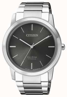Citizen | Mens Eco-Drive Titanium WR50 | Grey Dial | AW2020-82H