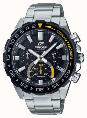 Casio | Edifice Solar | Stainless Steel Bracelet | Black Dial | EFS-S550DB-1AVUEF
