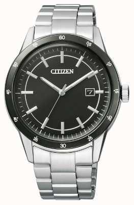 Citizen | Mens Eco-Drive | Stainless Steel Bracelet | Black Dial | AW1164-53E