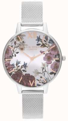 Olivia Burton | Womens | British Blooms | Stainless Steel Mesh Bracelet | OB16EG133