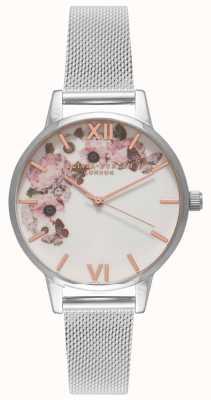 Olivia Burton | Womens | Signature Florals Dial | Steel Mesh Bracelet | OB16WG30