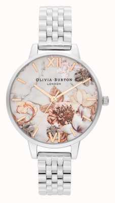 Olivia Burton | Womens | Marble Florals | Stainless Steel Bracelet | OB16CS31