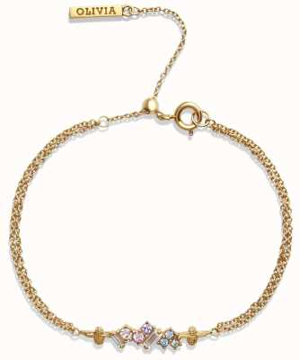 Olivia Burton | Rainbow Bee | Swarovski Crystals | Gold | Bracelet | OBJAMB80