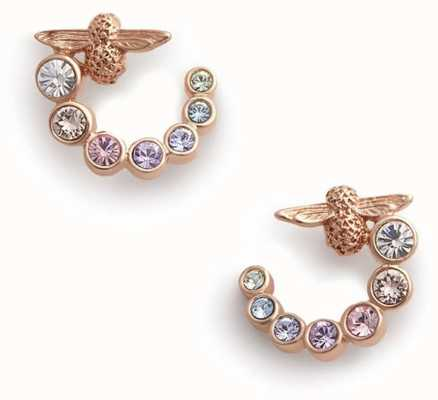 Olivia Burton | Rainbow Bee | Swarovski Swirl | Rose Gold | Earrings | OBJAME126