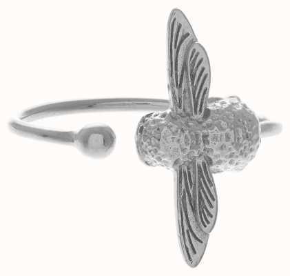 Olivia Burton | 3D Bee | Silver | Ring | OBJ16AMR03