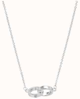 Olivia Burton | The Classics | Silver | Interlink Circle | Necklace | OBJ16ENN54