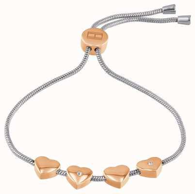 Tommy Hilfiger | Womens | Rose Gold Hearts | Adjustable Bracelet | 2780122