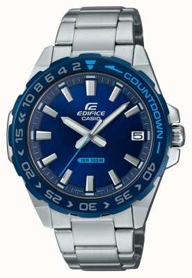 Casio | Mens | Edifice | Classic | Blue Dial | Stainless Steel | EFV-120DB-2AVUEF
