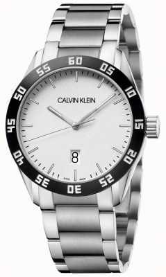 Calvin Klein | Compete | Mens | Stainless Steel Bracelet | White Dial | K9R31C46
