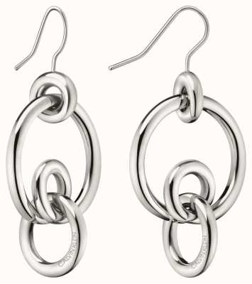 Calvin Klein | Womens Clink | Stainless Steel Silver Hoop Earrings | KJ9PME000200