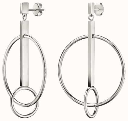 Calvin Klein | Womens Insync | Stainless Steel Silver Hoop Earrings | KJ8TME000100