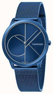 Calvin Klein Minimal | Blue Mesh Bracelet | Blue Dial | K3M51T5N