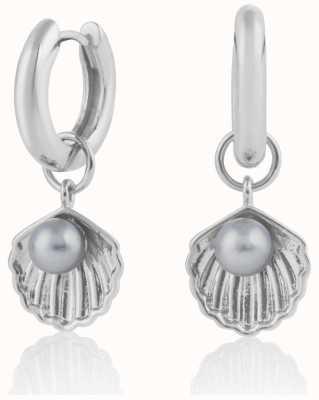 Olivia Burton | Under The Sea | Silver | Huggie Hoop Shell Earrings | OBJSCE07