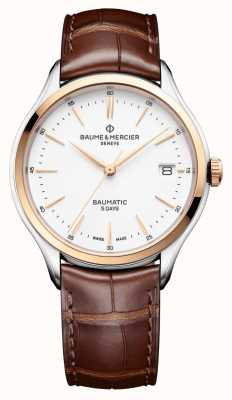 Baume & Mercier |Clifton Baumatic | Brown Leather | White Dial | M0A10401