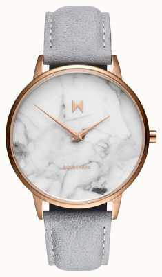 MVMT Boulevard Beverly Marble | Grey Leather Strap | Marble Dial D-MB01-RGLAMA