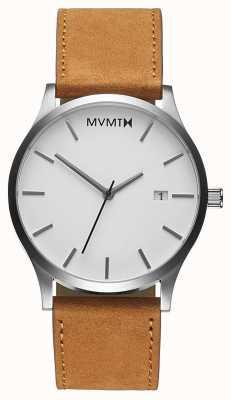 MVMT Classic White Tan   Brown Leather Strap   White Dial D-L213.1L.331