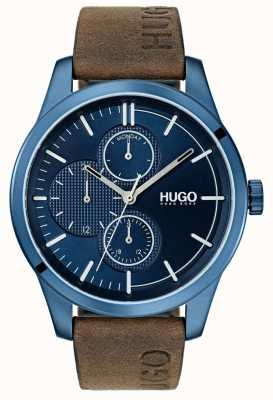 HUGO #discover | Brown Leather Strap | Blue Dial 1530083