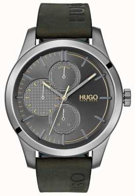 HUGO #discover | Green Leather Strap | Grey Dial 1530084