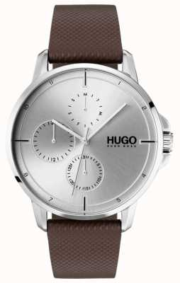 HUGO #focus | Brown Leather Strap | Silver Dial 1530023