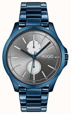 HUGO #jump | Blue IP Bracelet | Grey Dial 1530006