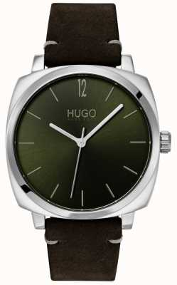 HUGO #own | Black Leather Strap | Green Dial 1530068