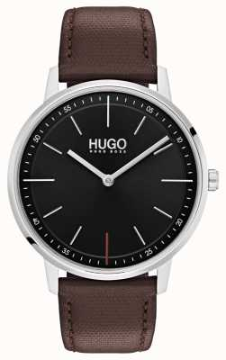 HUGO #exist | Brown Leather Strap | Black Dial 1520014