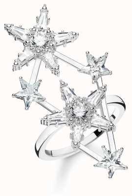 Thomas Sabo 925 Sterling Silver 'Stars' Zirconia White Ring TR2272-051-14-54