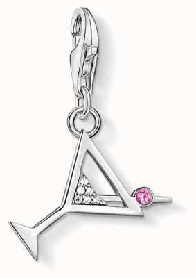 Thomas Sabo | Charm Pendant 'Cocktail Glass' | 925 Sterling Silver | 1802-013-27